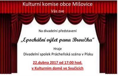 Plakát pozvánka na divadelní představení